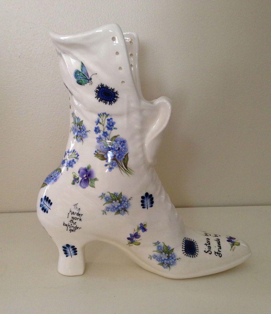 Vans unisex authentic skate shoe victorian flowers planters and porcelain shabby ceramic victorian flower blue white chintz shoe boot vase planter sister reviewsmspy