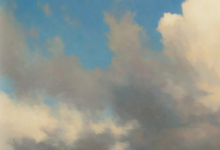 """Detail of oil painting - """"Cloudscape"""""""