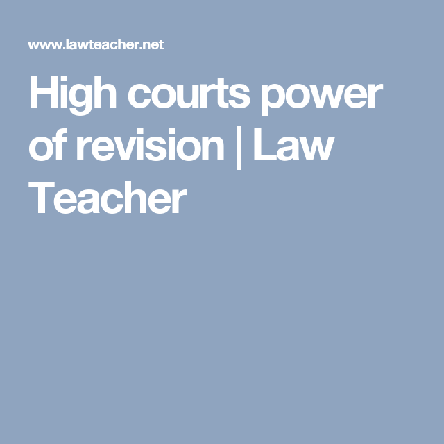 High Courts Power Of Revision Criminal Procedure Power Revision