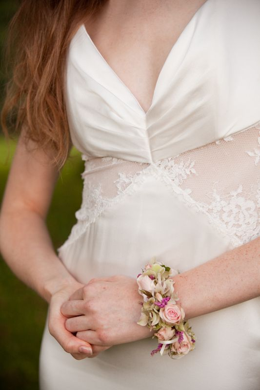 Flirty Fleurs Pink And Green Floral Bracelet