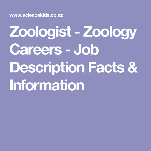 Zoologist  Zoology Careers  Job Description Facts  Information