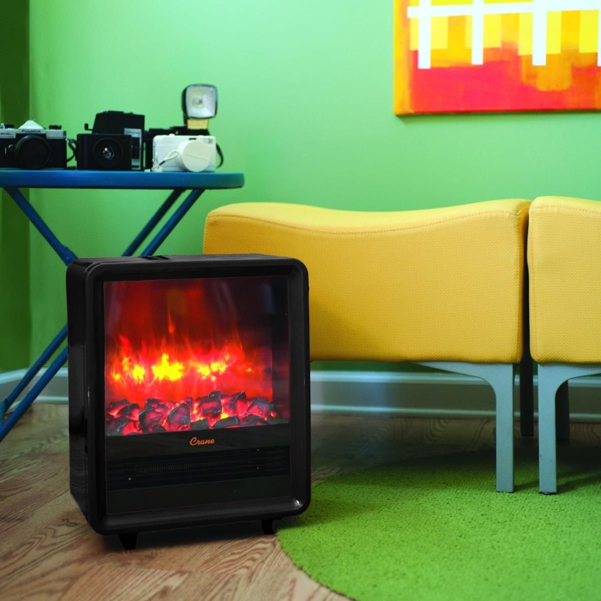 Crane Black Fireplace Heater Ee 8075bk Fireplace Heater