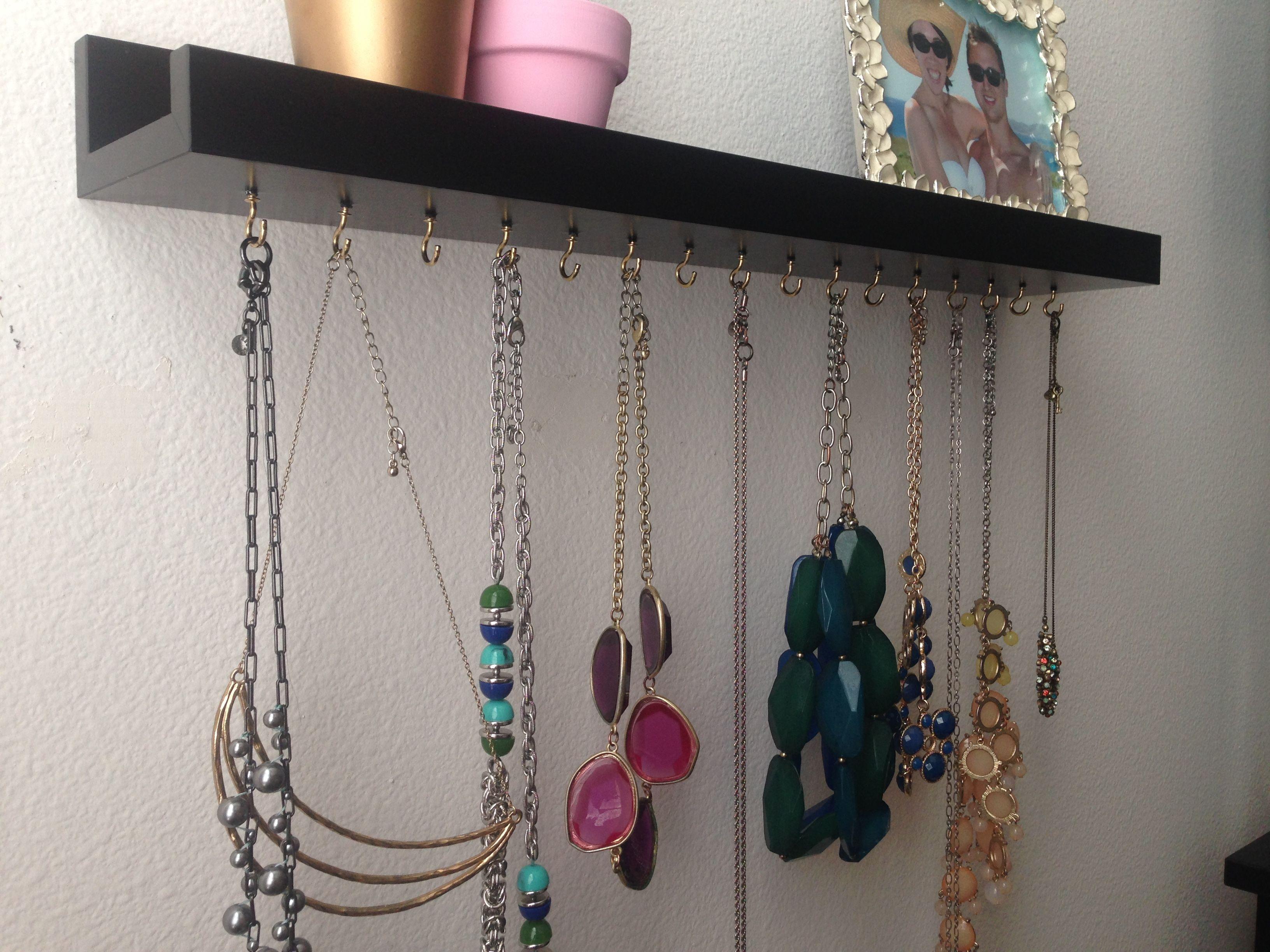 DIY Necklace Hanger Necklace Organizer Necklace Shelf Jewelry IKEA
