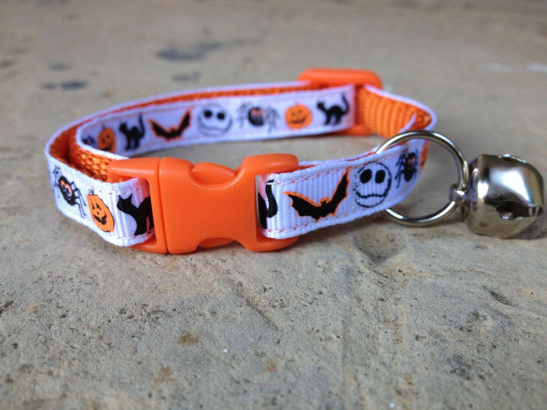 Halloween Town Breakaway Adjustable Cat Collar by