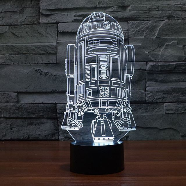 R2d2 3d Light Up Led Desk Lamp Awesome Futuristic Design Who Wants One Tag A Friend That Would Li Star Wars Night Light 3d Led Night Light Mood Lamps