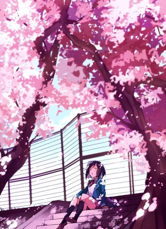 anime fondos lindo: Resultado De Imagen Para Fondos De Paisajes Sakura Tumblr