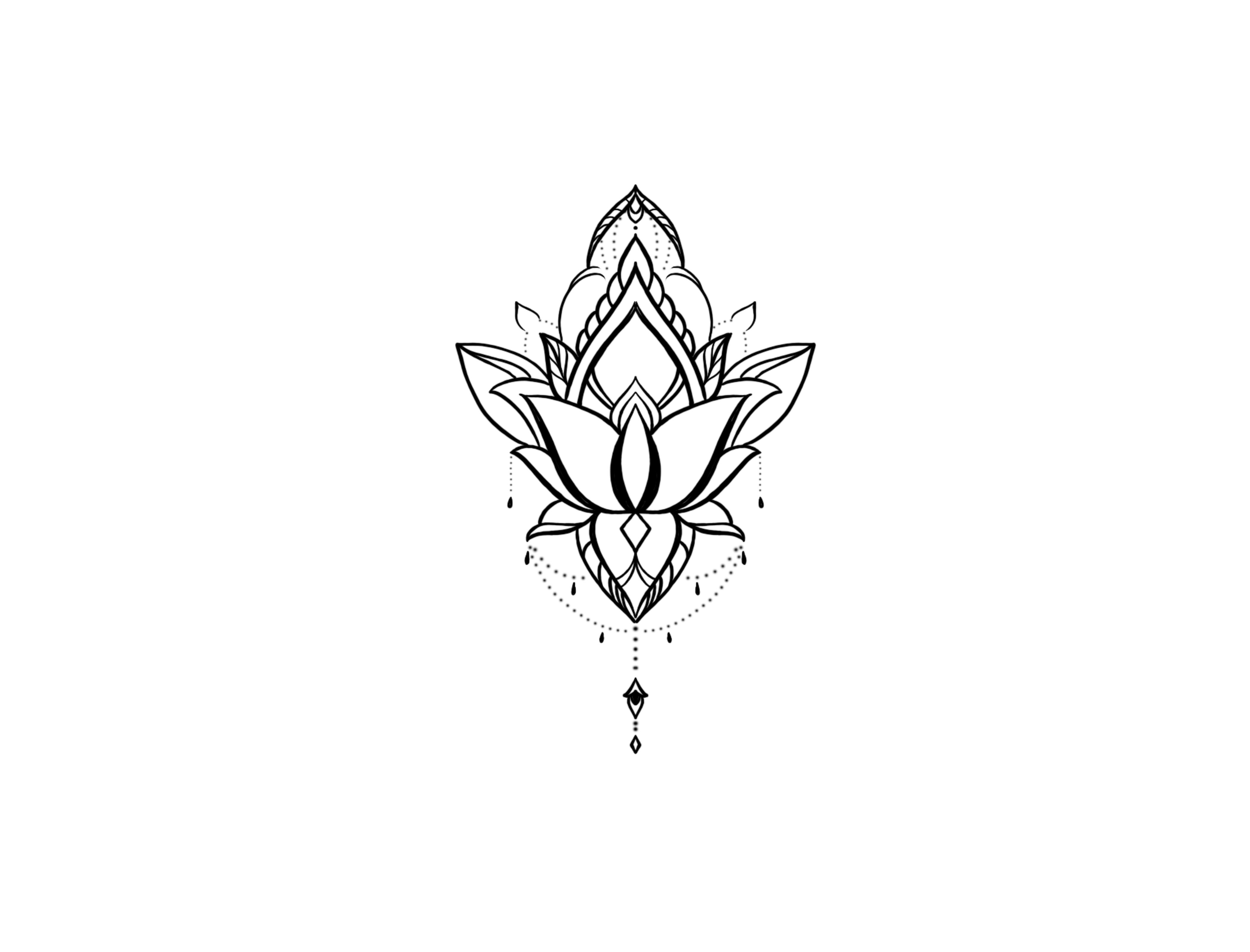 Lotus Botao Flower Tatuagens Minimalistas Minitatuagens Tatuagens