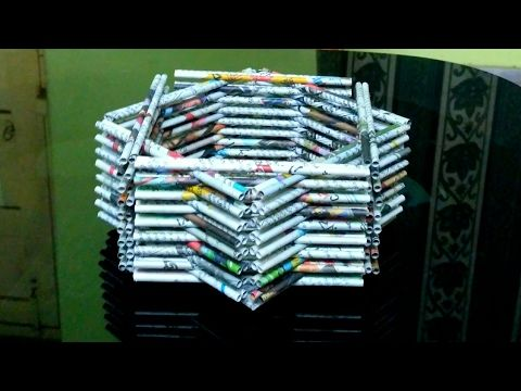 3 diy news paper crafts best out of waste with newspaper for Craft ideas out of waste