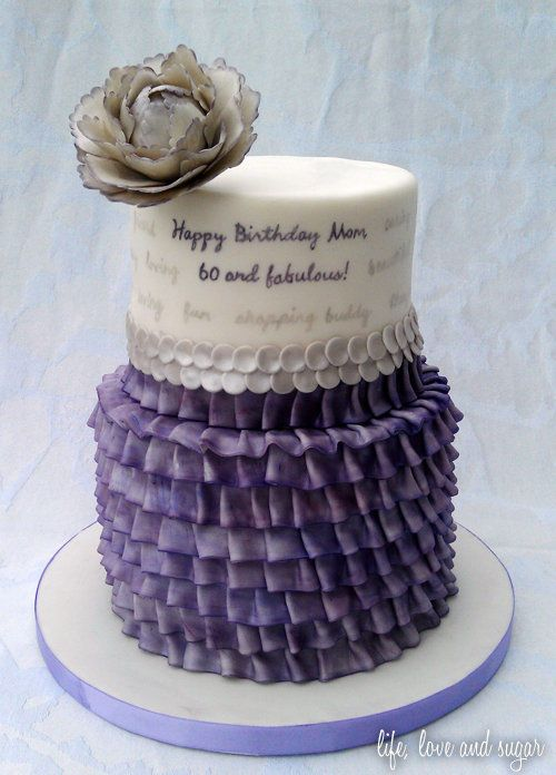 Purple 60th Birthday Cakes For Women Google Search