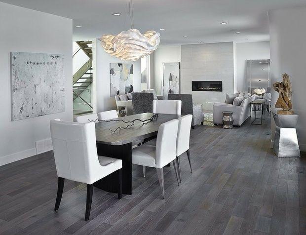 dcoration salle manger 107 ides design - Decoration Salle A Manger Gris Et Blanc