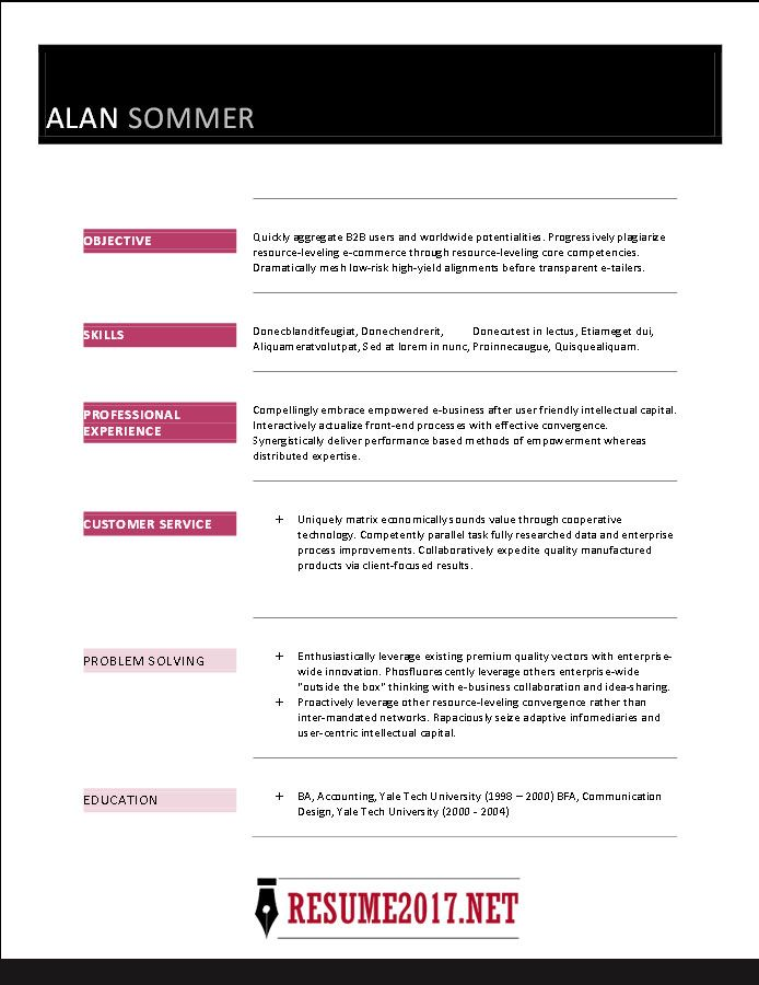 Resume Format Template 2017 Resume Format Pinterest Resume - how to format a resume in word