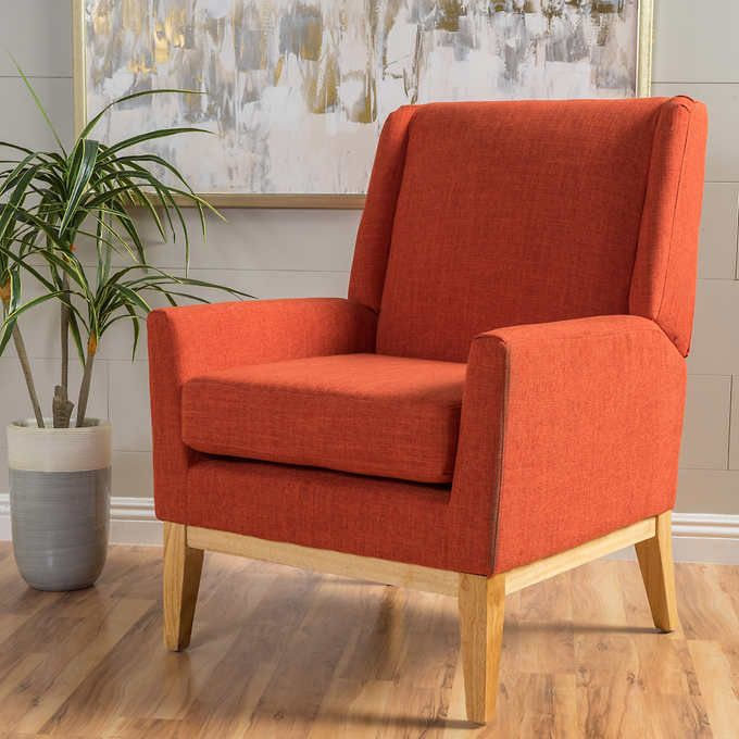Crosby Fabric Accent Chair Orange Furniture Accent