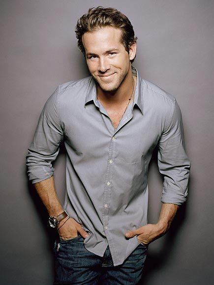 Ryan Reynolds- talented, FUNNY, loves animals, killer smile, and ummm, just look at him. <3