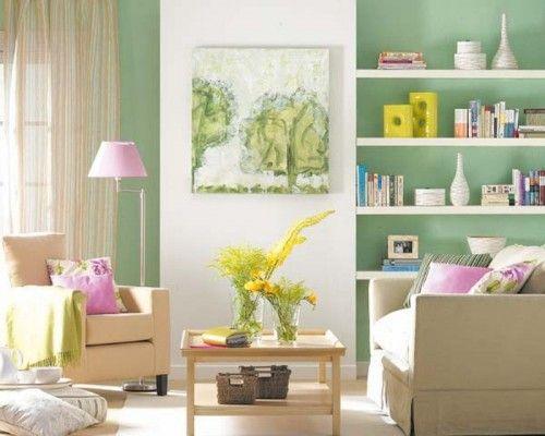 ideas novedosas para colocar estantes en la pared