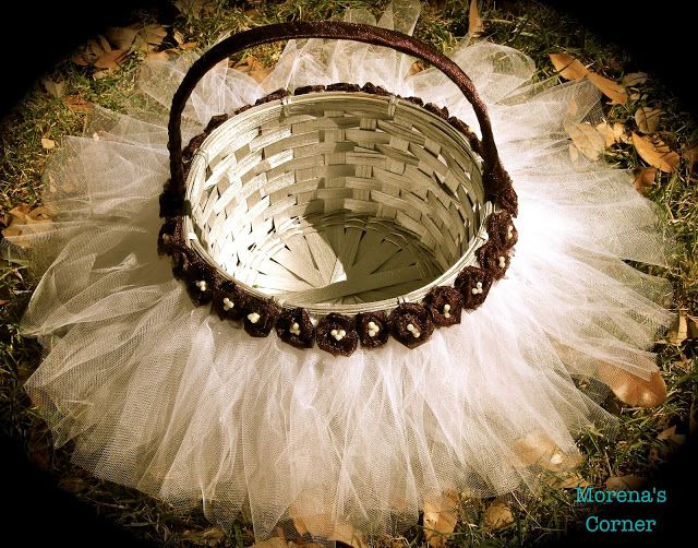 Tulle Easter Basket | Morena's Corner - for a flower girl at a wedding too