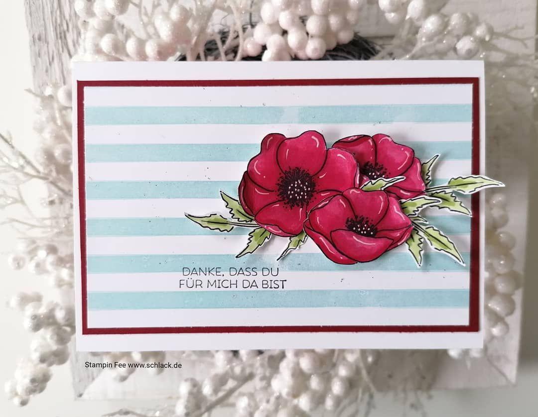 Stampin Fee Nicole Schlack On Instagram Werbung Manchmal Braucht Man So Eine Karte Einfach Stampinfee Stampinup St In 2020 Poppy Cards Poppies Stampin Up Cards