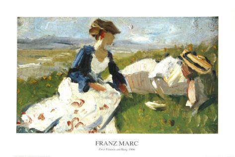 Zwei Fraun am Berg 1906