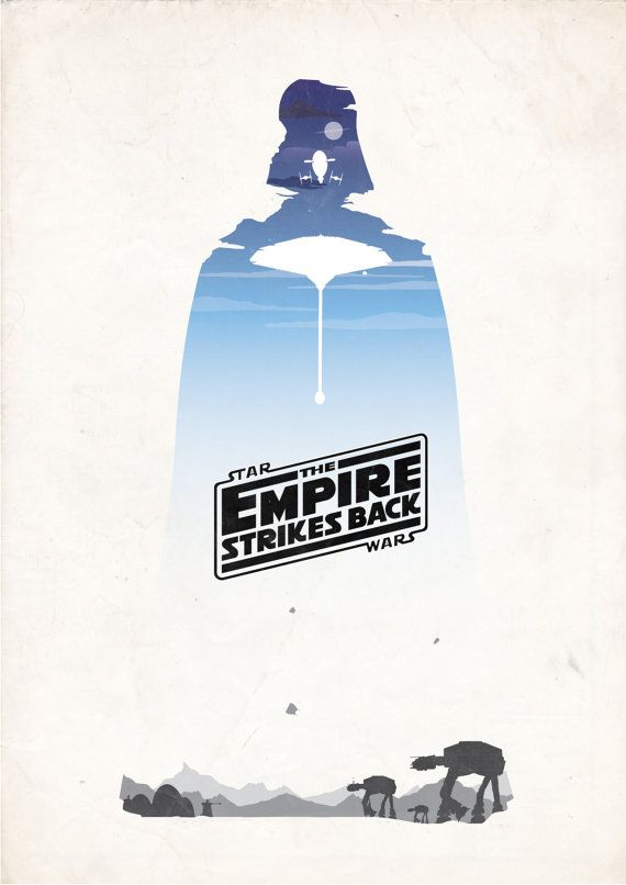 Star Wars Episode V The Empire Strikes Back 1980 Minimal Movie Poster By Barry Mcgovern Star Wars Trilogy Poster Empire Strike Star Wars Empire