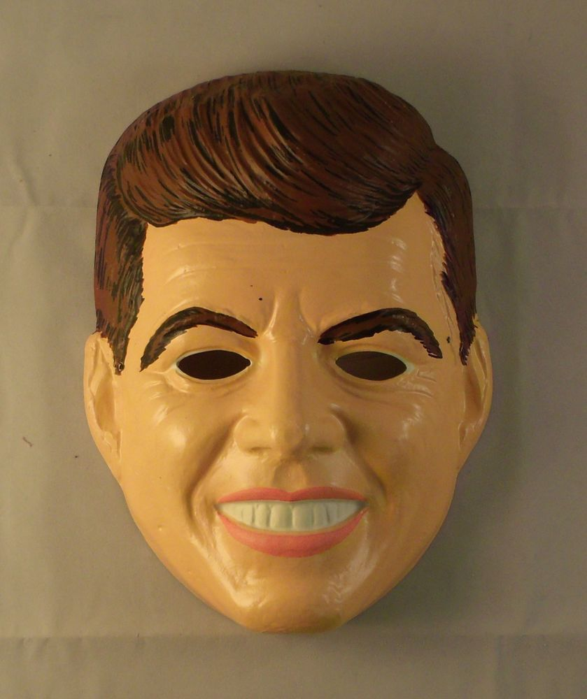 R*A*R*E Vintage Ben Cooper President JFK Kennedy Costume Mask in ...
