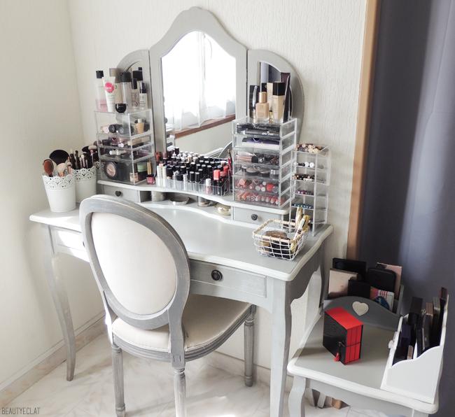 rangement maquillage makeup storage blogueuse beaute blog | Rangement maquillage en 2019 ...