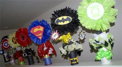 Justice League Centerpieces