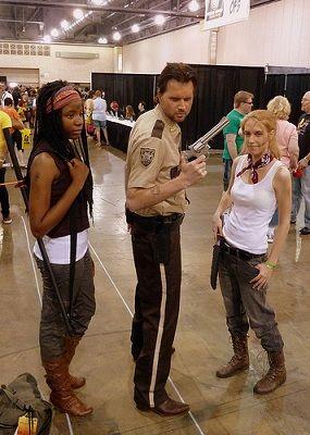 The Walking Dead Halloween costume idea. One of the best ideas for Halloween  costume in 2013.
