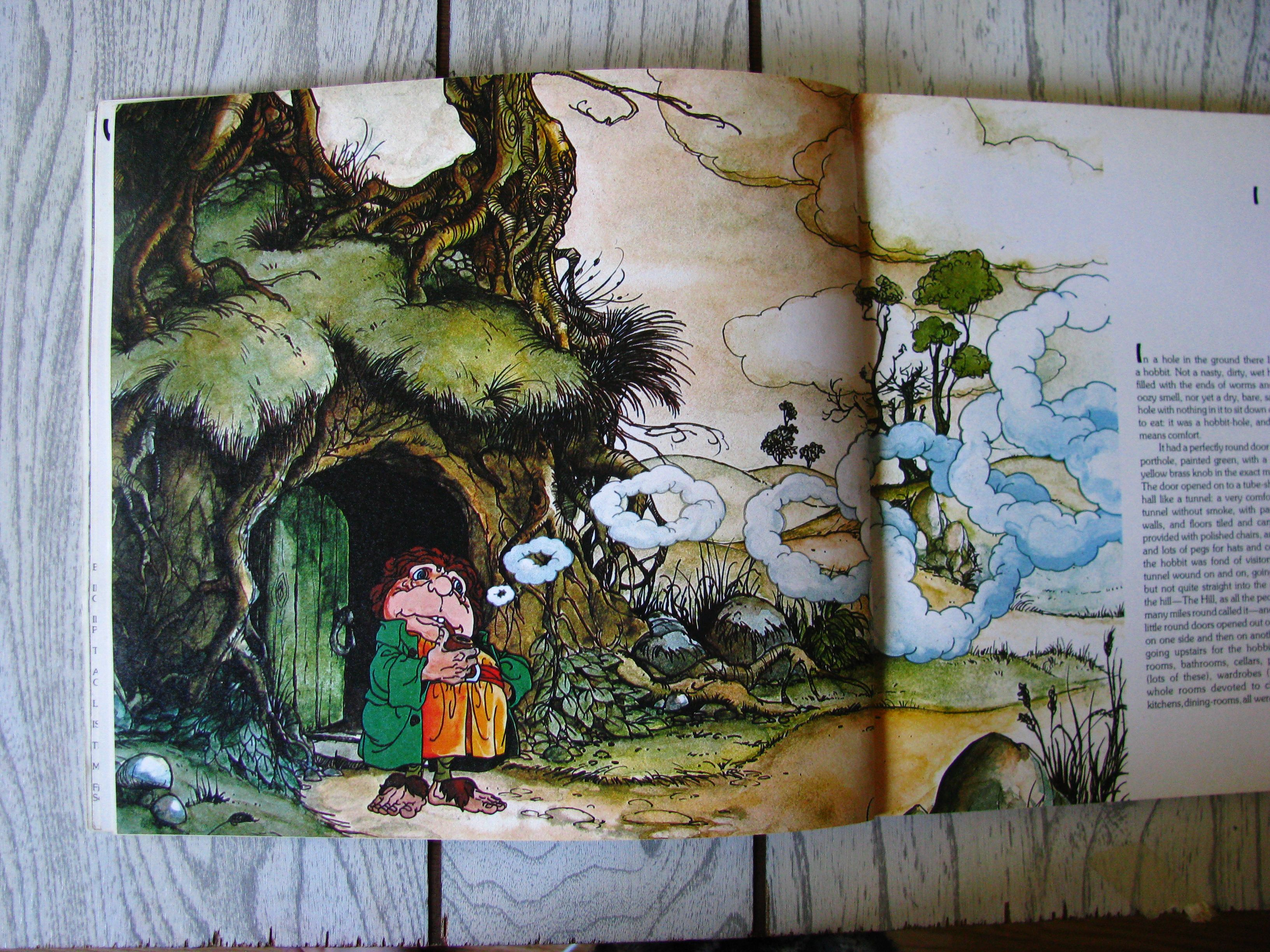 Another page from the Hobbit illustrated by Rankin and Bass.