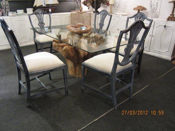 Comedor mesa linea nakashima con sillas inglesas   composición ...