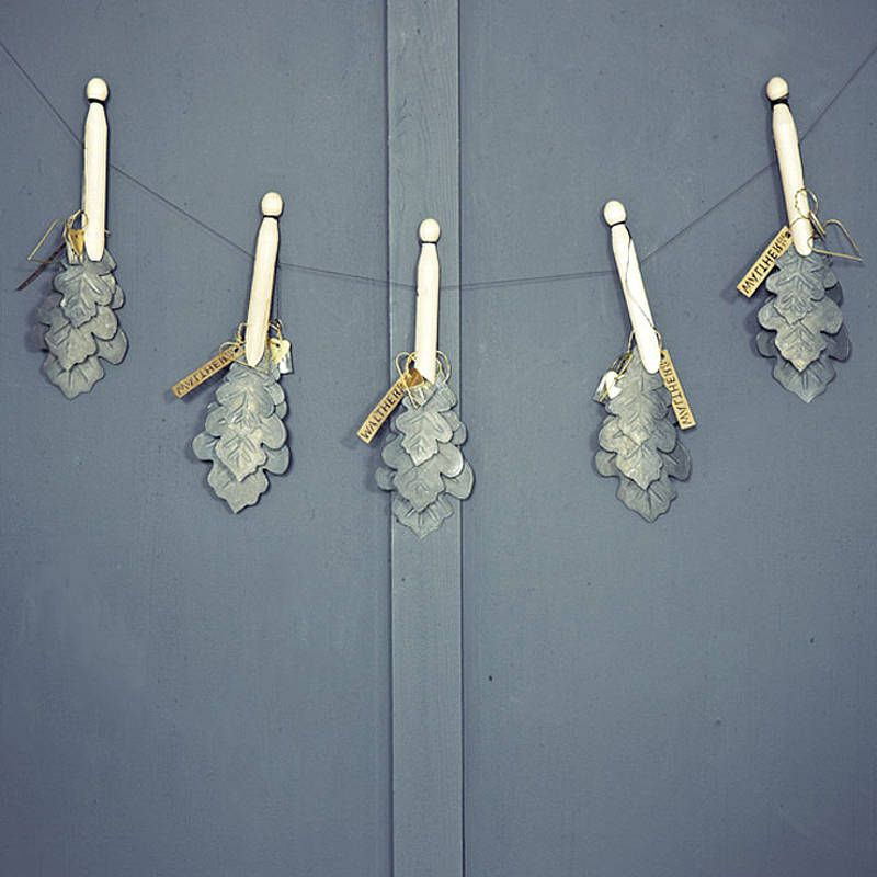 Zinc Oakleaf Trio Decoration By Rowen Amp Wren Walther Amp Co