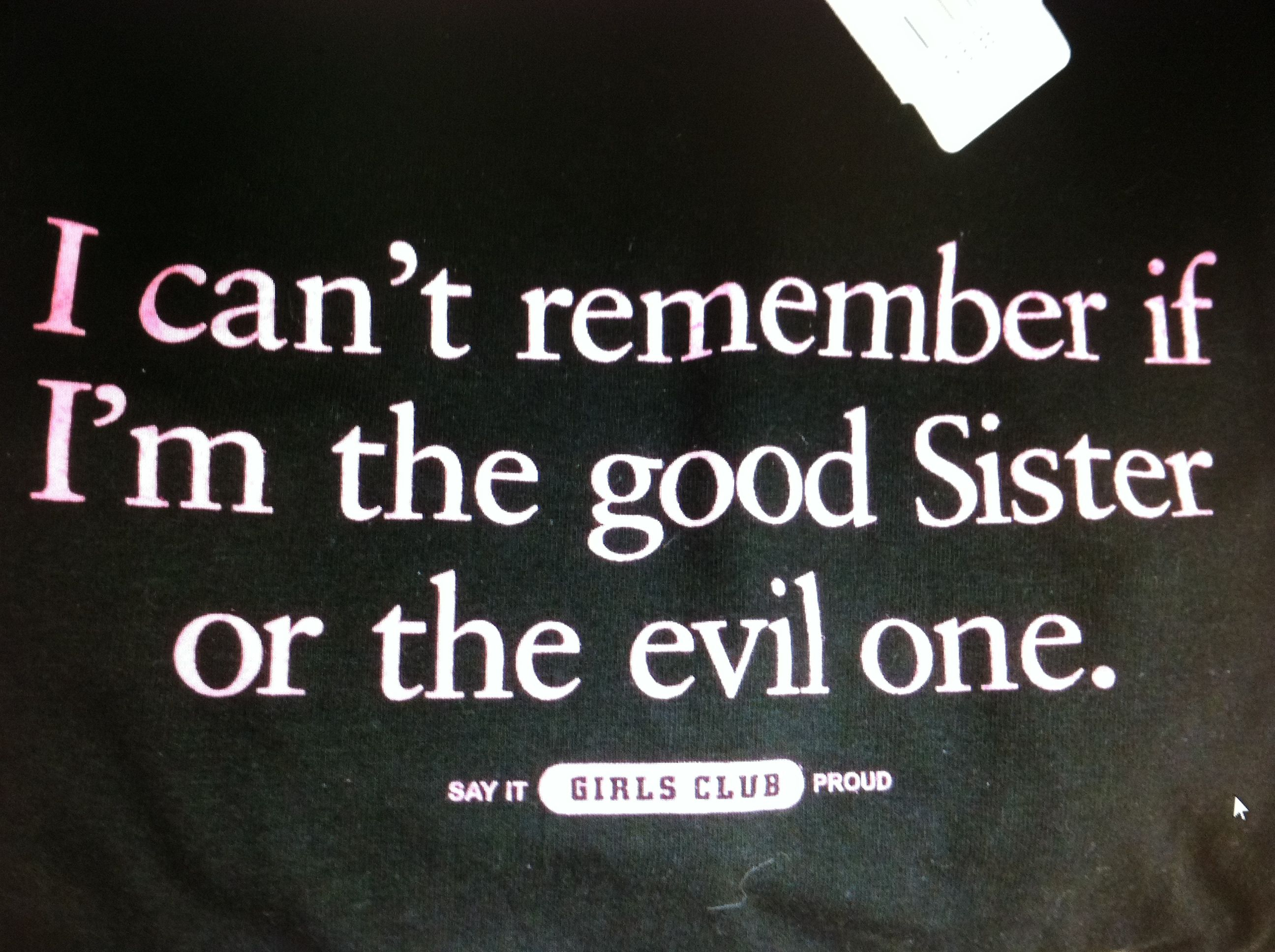 Oh Now I Remember I M The Evil One My Sister Is Good This Is What I Get For Letting Her Use My Ipad Sister Quotes Love My Sister Sisters Funny