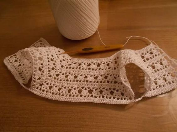 Vestido a crochet para niña [] # # #Sweater #Dresses, # #Crochet, # #Tissue
