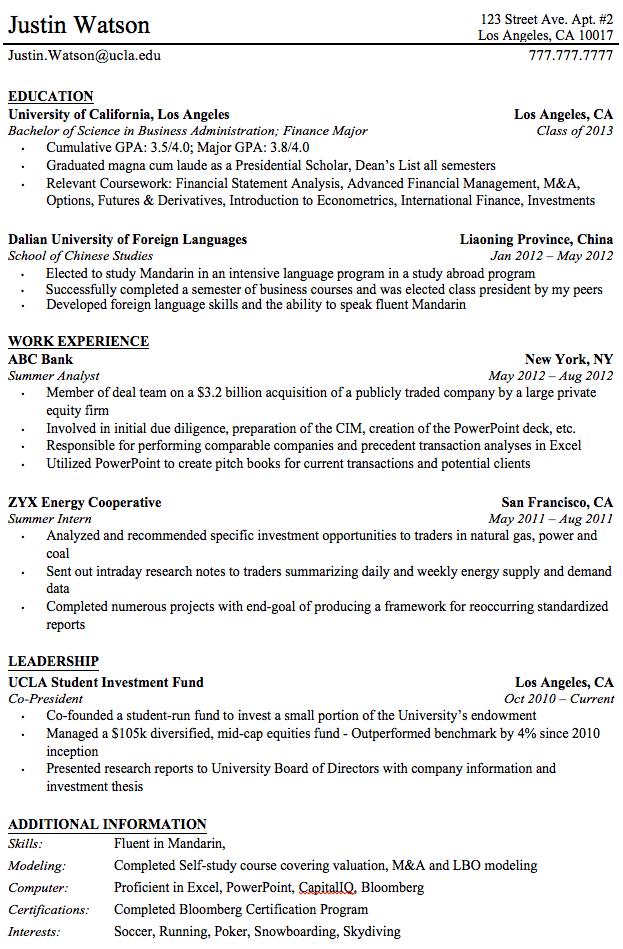The College Investor Professional Resume Templates For College Graduates 586467ca Resumesample Resumefor