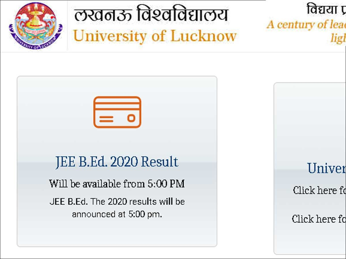 UP JEE B.Ed. 2020 result to be announced today at 5pm @lkouniv.ac.in