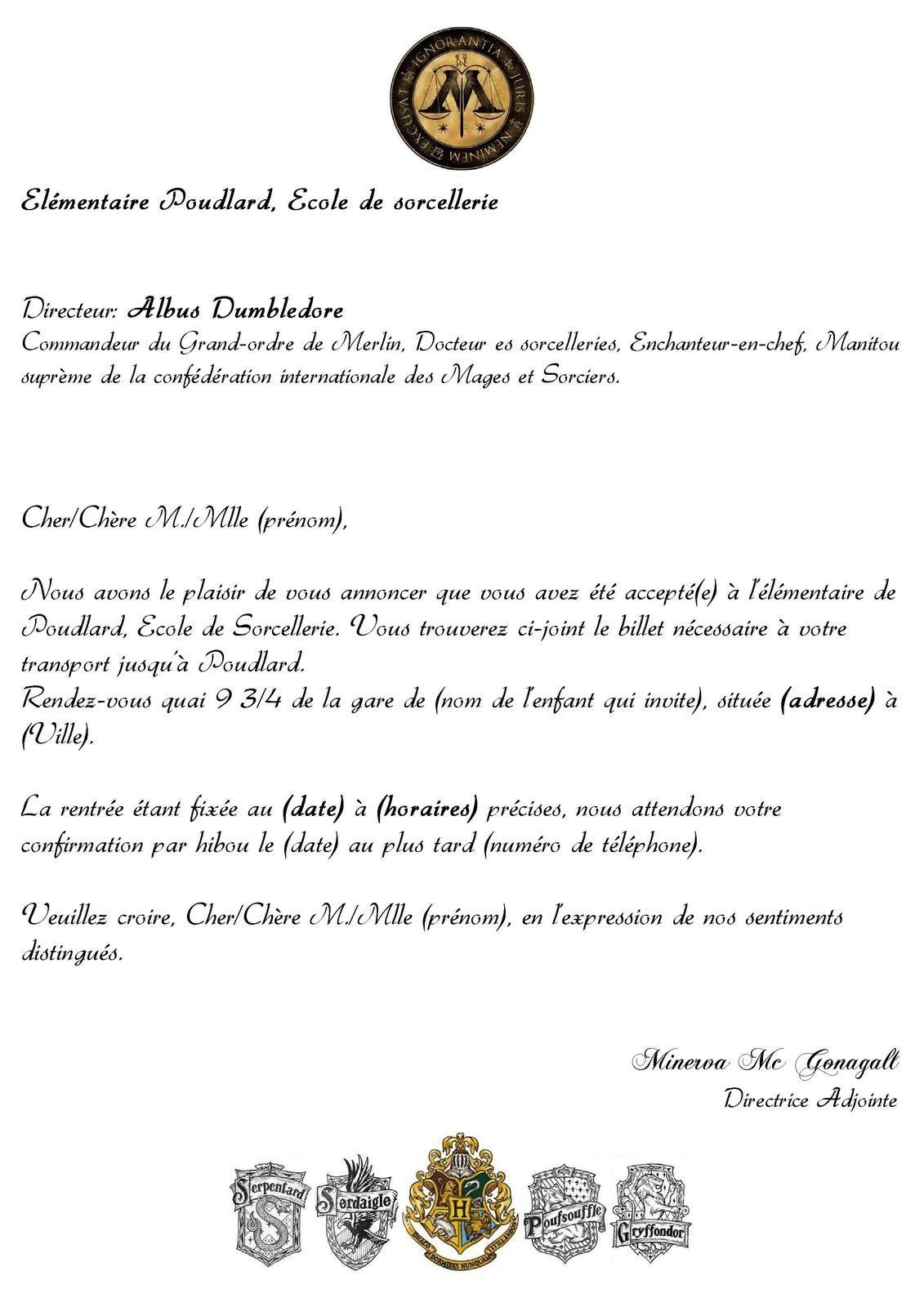 Turbo Admission Poudlard   idée aigremont   Pinterest   Papier  TP66