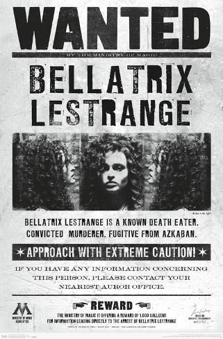Poster: THE WIZARDING WORLD: HARRY POTTER - BELLATRIX WANTED POSTER, 3