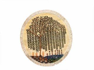 とてもおしゃれな丸いペルシャシラズ35760、ガッベ円形、イランギャベ丸い ギャッベ、手織りペルシャギャッベ