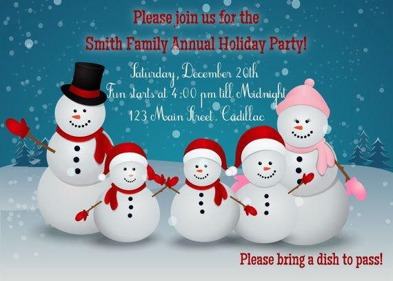 Snowman party christmas invitation printable by fabpartyprints snowman party christmas invitation printable by fabpartyprints stopboris Gallery