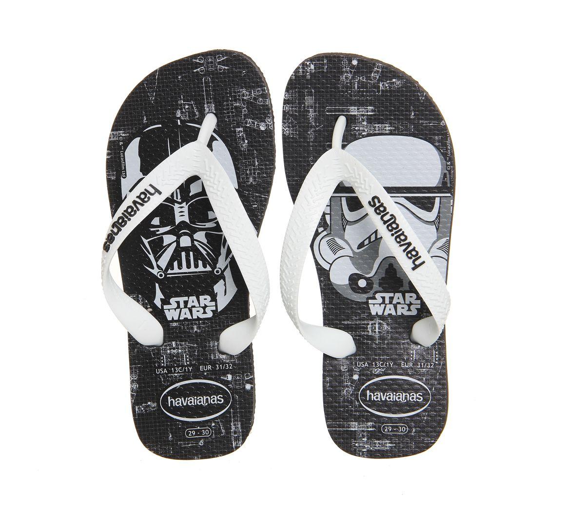 29756e8184c08c Buy Star Wars Black White Havaianas Kids Brasil from OFFICE.co.uk ...