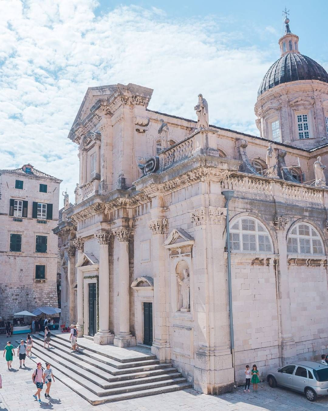 One Of The Most Beautiful Sacral Buildings Of Dubrovnik Is Without A Doubt The Church Of St Blaise After Being Damaged Local Travel Travel Dubrovnik Old Town