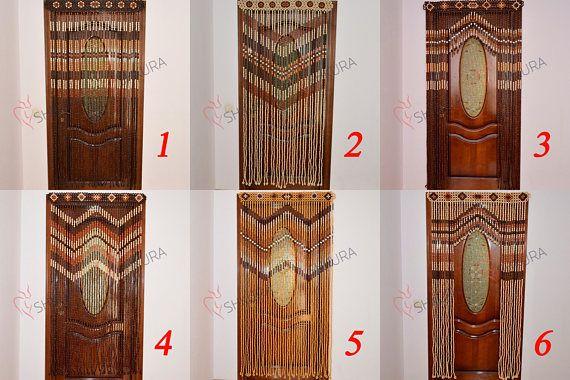 Wooden Door Curtain Wood Curtain Wood Blinds Door Beads Beaded