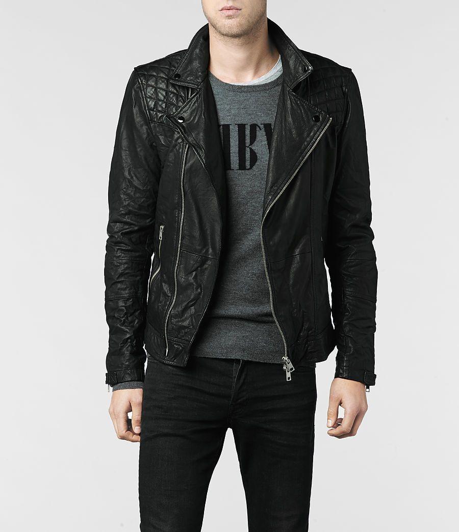 Allsaints Kushiro Leather Biker Jacket Mens Leather Jackets Leather Jacket Leather Jacket Men Best Leather Jackets [ 1044 x 900 Pixel ]
