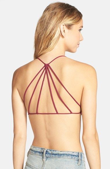 2f47759e053 Free shipping and returns on Free People Seamless Strappy Back Bralette at  Nordstrom.com. Straps radiate from the back of a seamless bralette ruched  between ...