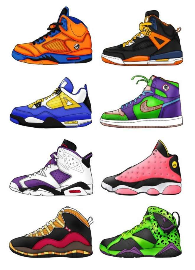Une collection de Jordan aux couleurs des personnages de Dragon Ball Z |  Geeked | Pinterest | Dragon ball, Dragons and Dbz