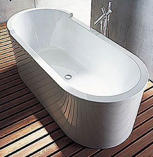 Duravit Starck Freestanding Paneled Oval Bathtub 70 Inch (700010 ...