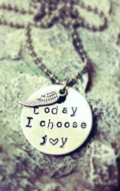 Silver Jewelry Choose Joy Necklace Silverware Necklace Spoon Necklace Spoon Jewelry Pendant Best Friend Gift Stamped Spoon Jewelry