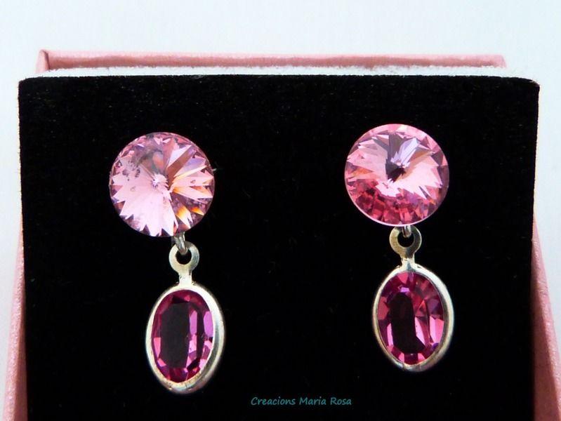Pendientes Cristal Swarovski de Creacions Maria Rosa por DaWanda.com