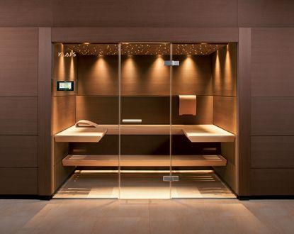 Badezimmer Sauna ~ Frameless glass wall door system cantilever benches sauna