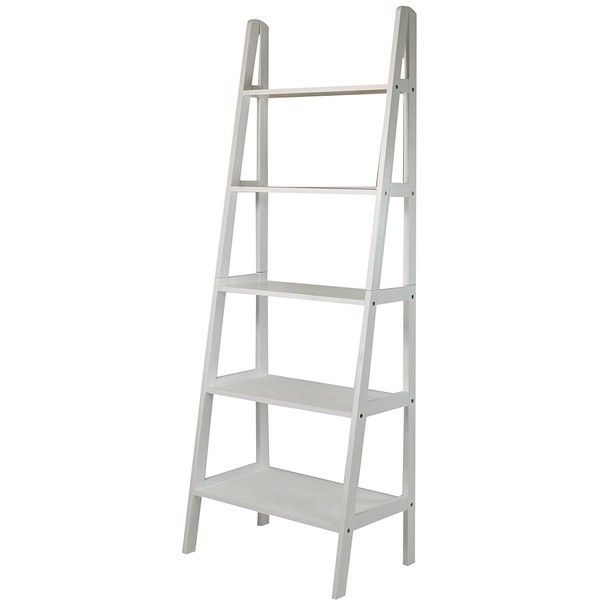 Casual Home 176-51 5-Shelf Ladder Bookcase (41 BRL) ❤ liked on Polyvore featuring home, furniture, storage & shelves, bookcases, book shelves, 5 shelf bookcase, ladder shelving, book-shelves and ladder shelf bookcase
