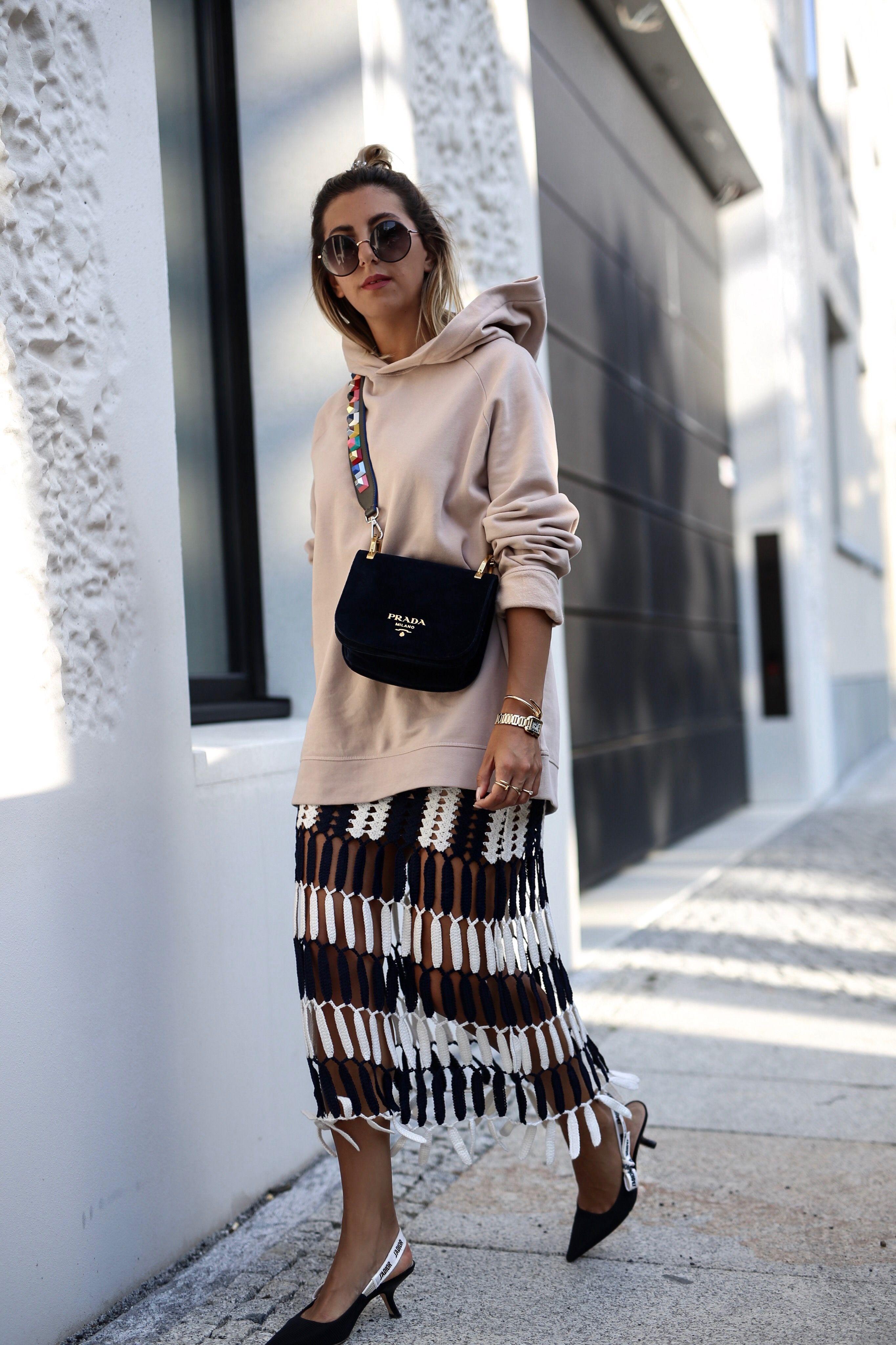 COS hoodie & selfportrait skirt | berlin fashion week | Dior J'adior slingback heels