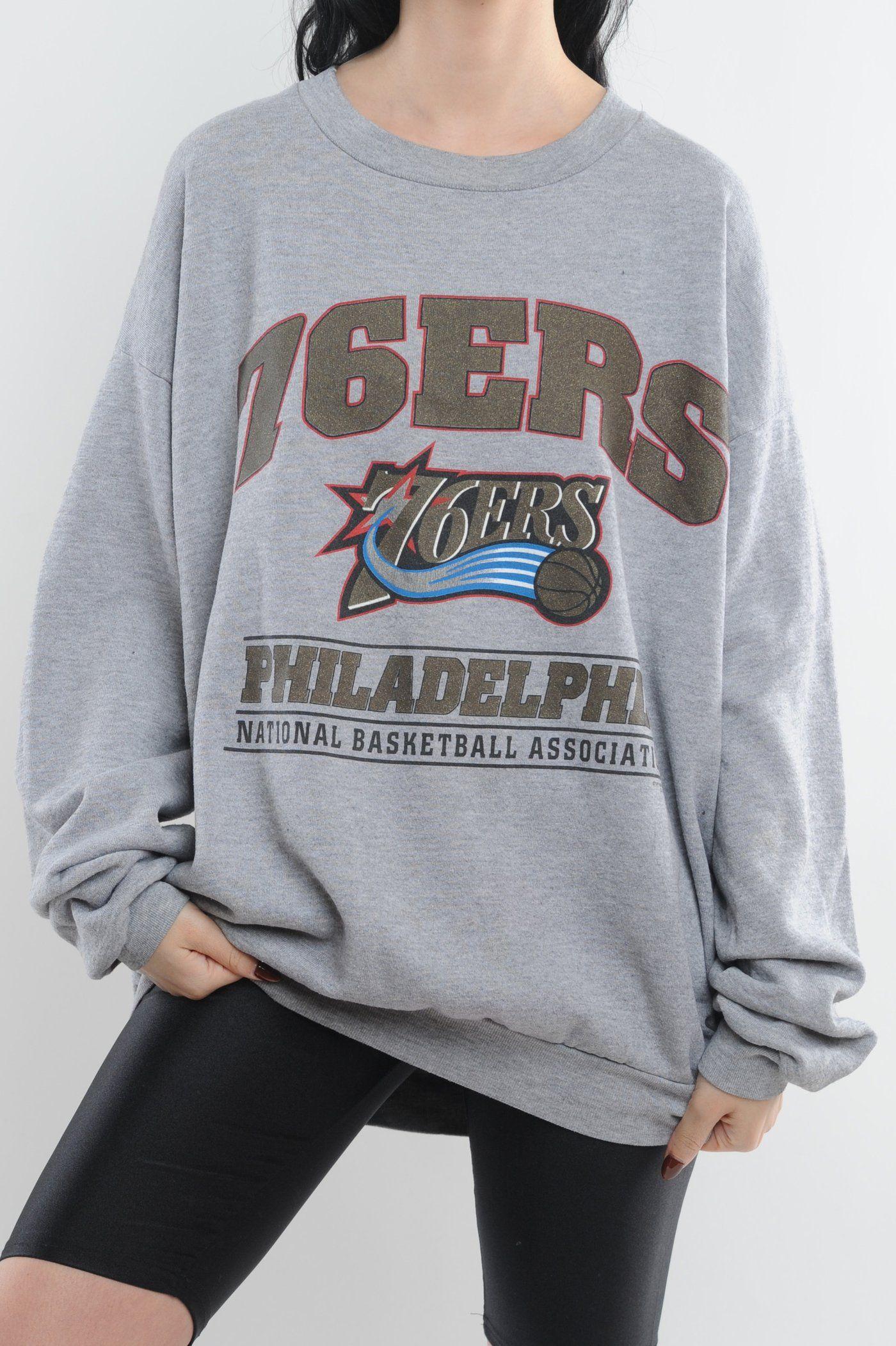 Philadelphia 76ers Sweatshirt The Vintage Twin Sweatshirts 76ers Philadelphia 76ers [ 2103 x 1400 Pixel ]